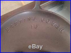 Loths (Loth's) cast iron skillet and lid #10 HTF lid