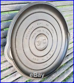 MAGNIFICENT GRISWOLD #14 cast iron RAISED LETTER low dome skillet cover lid 1925