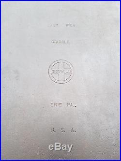 MONSTER Griswold #11 Cast Iron Long Griddle Block EPU Logo 28 1/2 Long BACON