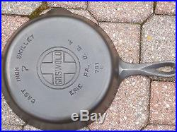 Matched Set of 8 GRISWOLD Large Cross Block Lettering Cast Iron Skillets 1920's