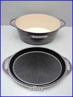 NEW Le Creuset 4.5 Qt. Oval Dutch Oven + Grill Pan Lid