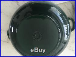 NEW Le Creuset Enamel Cast Iron 12.5 Round #32 French 7.25 Qt Dutch Oven Green