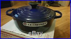 NEW Le Creuset Indigo blue Cast Iron Risotto Pot dutch oven 3.5 Qt. #24