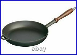 NEW STAUB CAST IRON FRYING PAN 24cm ENAMELED COATING KITCHEN COOKWARE FRYPAN FRY