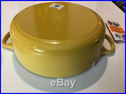 NIB Le Creuset Enamled Cast-Iron 6.75 Qt Risotto Pot-Quince yellow