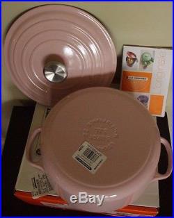 NIB Le Creuset Signature Cast Iron 3.5-qt Round Dutch Oven chiffon pink bonbon
