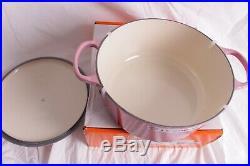 NIB Le Creuset Signature Cast Iron 7 1/4 qt Round Dutch Oven ombre pink