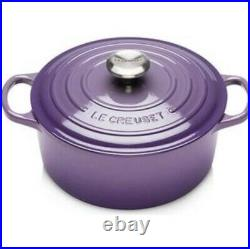 NIB Le Creuset Signature Cast Iron Round Dutch Oven 4.5 Qt Ultra Violet Purple