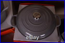NIB Le Creuset Signature Cast Iron & stoneware 10-piece set mist gray dutch oven
