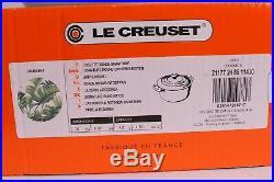 NIB Le Creuset Signature round casserole dutch oven Palm Leaf 4.5 quart 4 1/2 qt
