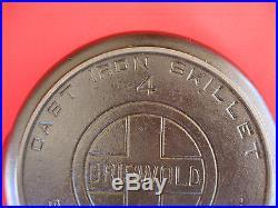 NICE Vintage GRISWOLD No. 4 Skillet Large Block Logo Heat Ring 702A LOOK 1078