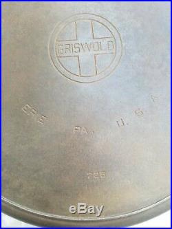 NO RESERVE Huge RARE Griswold Skillet 20 Large Logo #728 Hotel Skillet Griddle