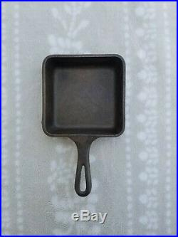 NO RESERVE Rare Griswold Cast Iron Toy Sample Square Pan Skillet #775