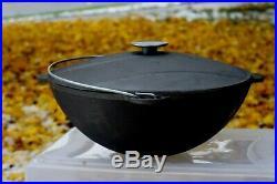 New 100% Cast Iron Uzbek Kazan +cast Iron Lid. Cookware 8L-12L-22L. USA Sealer