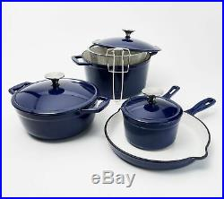 New Cook's Essentials 8-PC Gradient Cast Iron Cookware Set, COLOR LIGHT BLUE