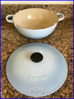 New Le Creuset Coastal Blue Color Marmite Soup Pot (4.1 L 4 1/2 QT) Cast Iron