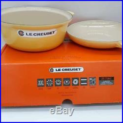 New Le Creuset Saucepan with Skillet LidSoleil 3.75 QT Round New in Box