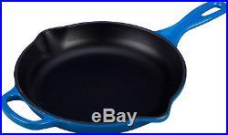 New Le Creuset Signature Cast Iron Round Skillet Frying Pan Marseille Blue 20cm