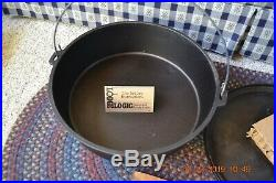 New Lodge USA Discontinued NO 16 Cast Iron Shallow Camp Dutch Oven