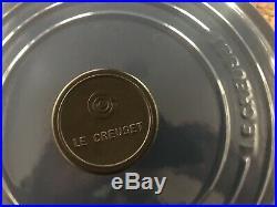 New No Box Le Creuset 5.5 Quart Round Dutch Oven With Lid Blue #26