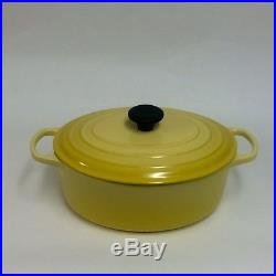 New SIGNATURE Le Creuset 6.75 qt Oval Dutch Oven SOLEIL YELLOW COLOR in MFG Box
