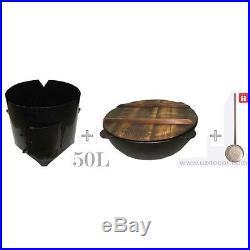New Set Uzbek National Cookware 100% Cast-Iron Kazan+Oven 50 litres-13.2 gallons