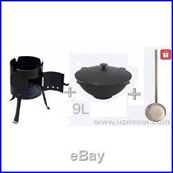 New Set Uzbek National (cookware) 100% Cast-Iron Kazan+Oven 9 litres (2.4gallon)