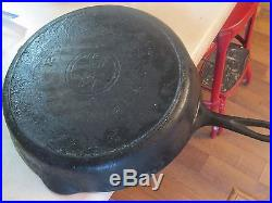 Nice 13 Griswold Cast Iron Skillet #719 and #12 on bottom