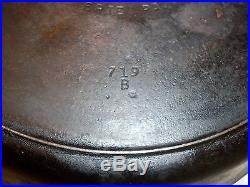 No. 12 Griswold Cast Iron Skillet 719 B Small Logo Erie PA #12 FREE SHIPPING