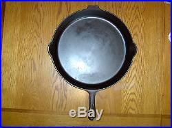 No. 14 Griswold #14 Cast Iron Skillet Large Block Logo EPU withHeat Ring 718