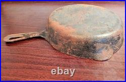 Nos Vintage GRISWOLD Erie PA USA Cast Iron Ware Heavy Metal Frying Pan #7 701G