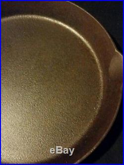 OLD VINTAGE GRISWOLD CAST IRON NO. 14 SKILLET with HEAT RING 718 SEASONED