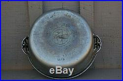 Old Vintage Griswold Nickel Plated Cast Iron #8 Dutch Oven w Lid Cookware USA