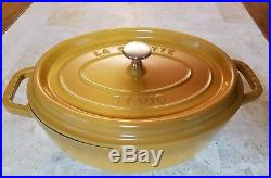 Oval cocotte 29 cm yellow mustard cast iron Staub $379.00 NEW