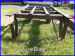 Primitive Antique/vintage Cast Iron Hand Cart/truck/cast Iron Wheels/pick Up MI