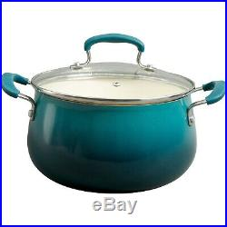 Pioneer Woman Classic Belly Cookware Ceramic Non Stick Teal Cast Iron Skillet