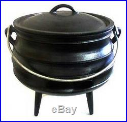 Potjie pot Cauldron Cast Iron Sz 3 Camping cookware Survival Gypsy Kettle