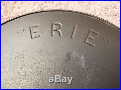 Pre-Griswold Cast Iron #12 First Series ERIE Skillet with Heat Ring