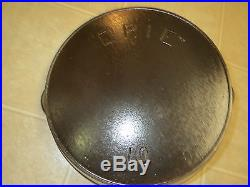 Pre Griswold ERIE No. 10 Cast Iron Skillet with HR