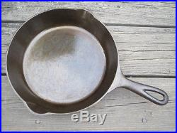 Pre Griswold ERIE No. 7 Cast Iron Skillet with HR Mismarked 702
