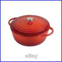 Pyrolux Pyrochef Cast Iron Casserole Stock Pot Combo 20cm/2L 28cm/6L Cookware