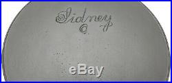 RARE #11 SIDNEY Script BIG Logo Cast Iron Skillet Erie Ghost HTF