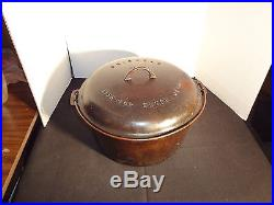 RARE 1920 GRISWOLD #12 TITE-TOP COVERED DUTCH OVEN