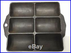 RARE Antique GRISWOLD Cast Iron FRENCH ROLL PAN 6140 Erie #17 RARE