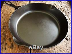 RARE Antique GRISWOLD Cast Iron SKILLET Frying Pan # 9 LARGE SLANT LOGO no ERIE