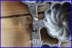 RARE Antique Griswold No. 20 Cast Iron Turks Head Gem Pan