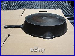 RARE ERIE Cast Iron #9 712 C Maker Mark Heat Ring Skillet
