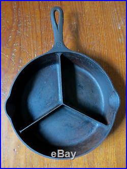 RARE GRISWOLD DINNER SKILLET ALL IN ONE 1008 CAST IRON PAN Erie PA