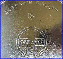 RARE Griswold #13 Slant Logo Cast Iron Skillet #720