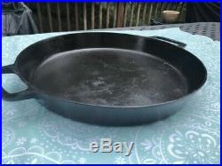 RARE! Griswold 20 Cast Iron Hotel Skillet with Heat RIng and Block Logo